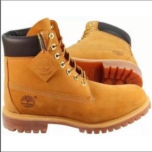 Timberlands classic nubuck wheat colored boots